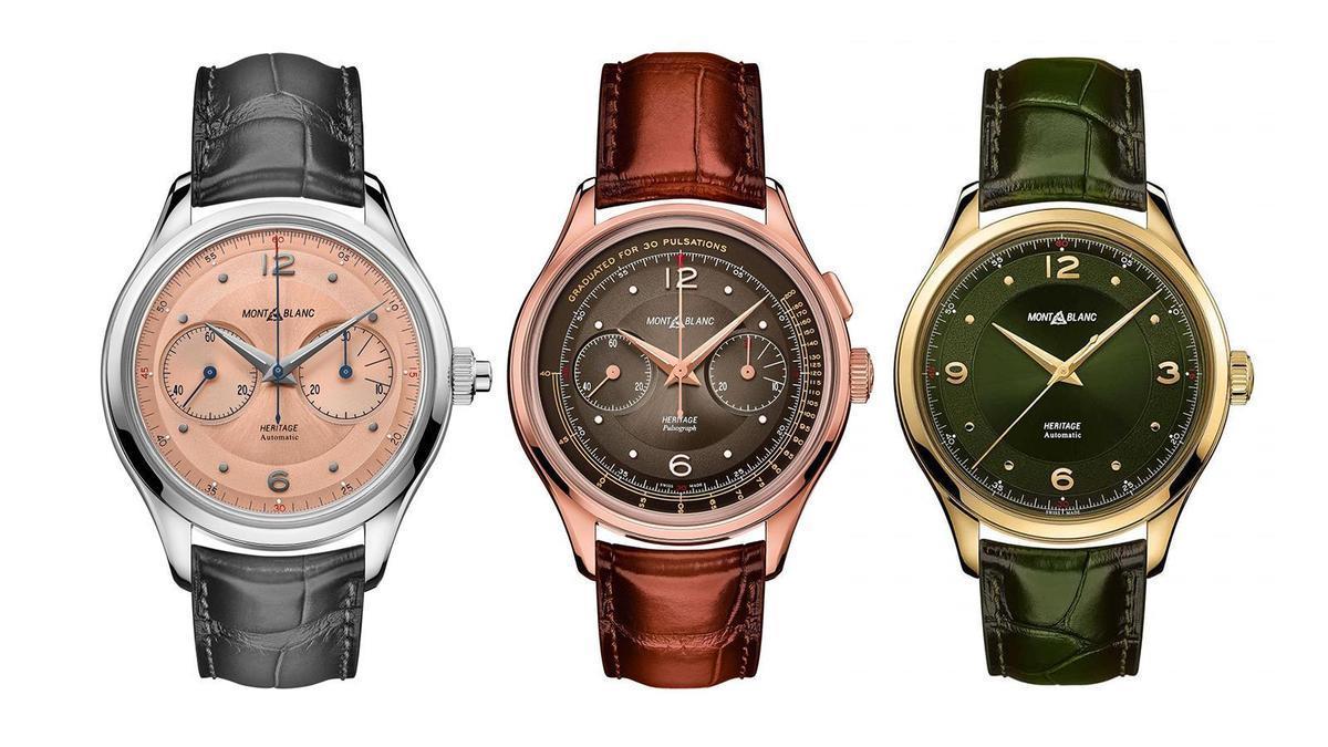 萬寶龍今年首波新錶釋出!Heritage系列主攻顏色材質的變化型