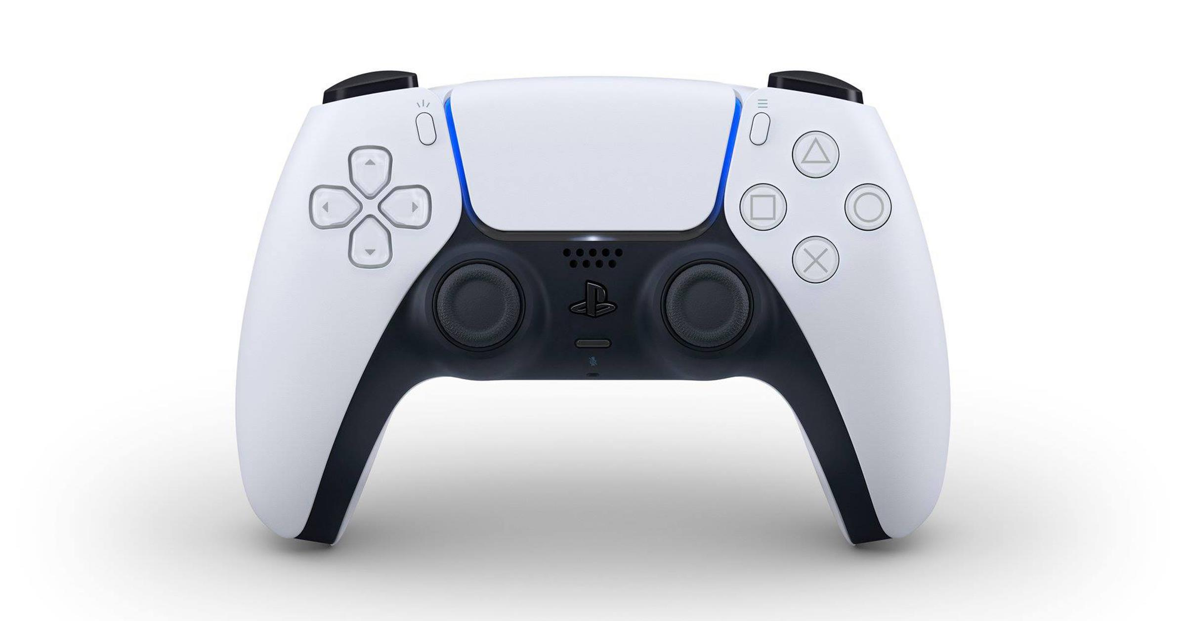 PlayStation 5 / PS5 控制器 DualSense 外型亮相,改用 USB-C 傳輸埠並導入觸覺反饋等技術