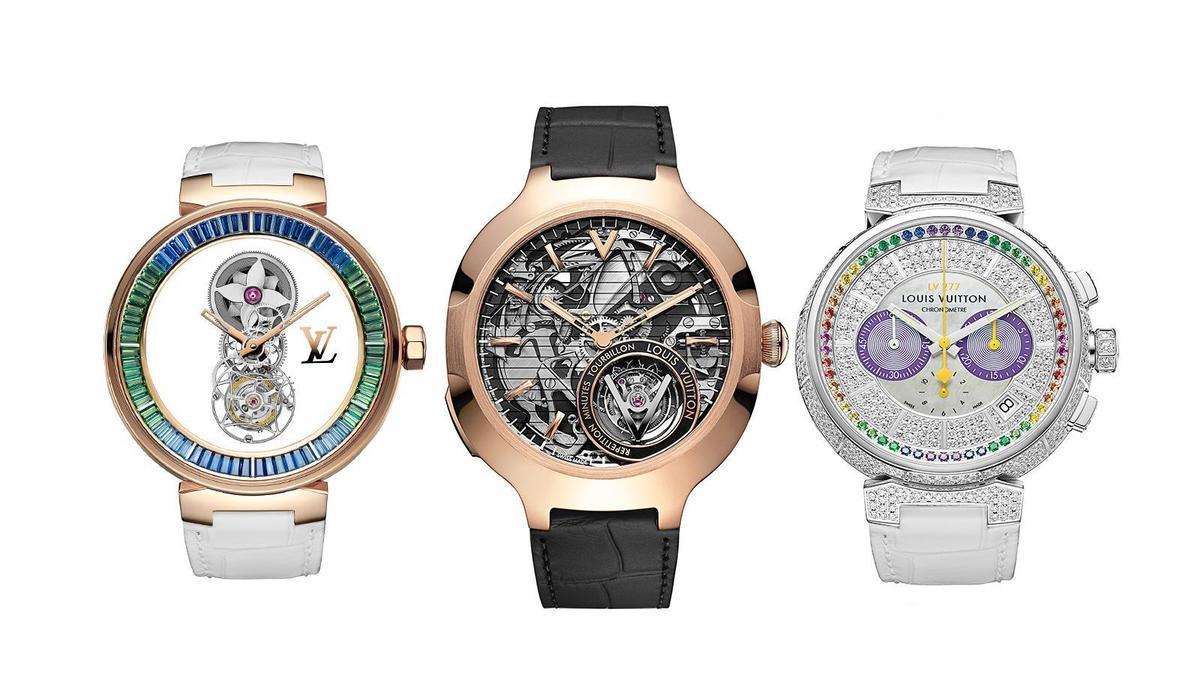 材質和顏色的改款公式!LV新錶彩虹圈也入列