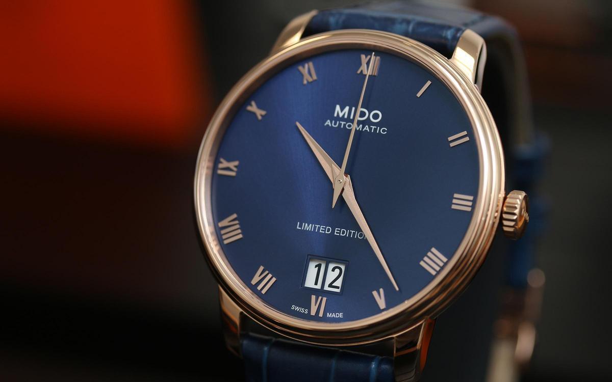 藍金古典優雅風!美度Baroncelli大日期視窗限量腕錶