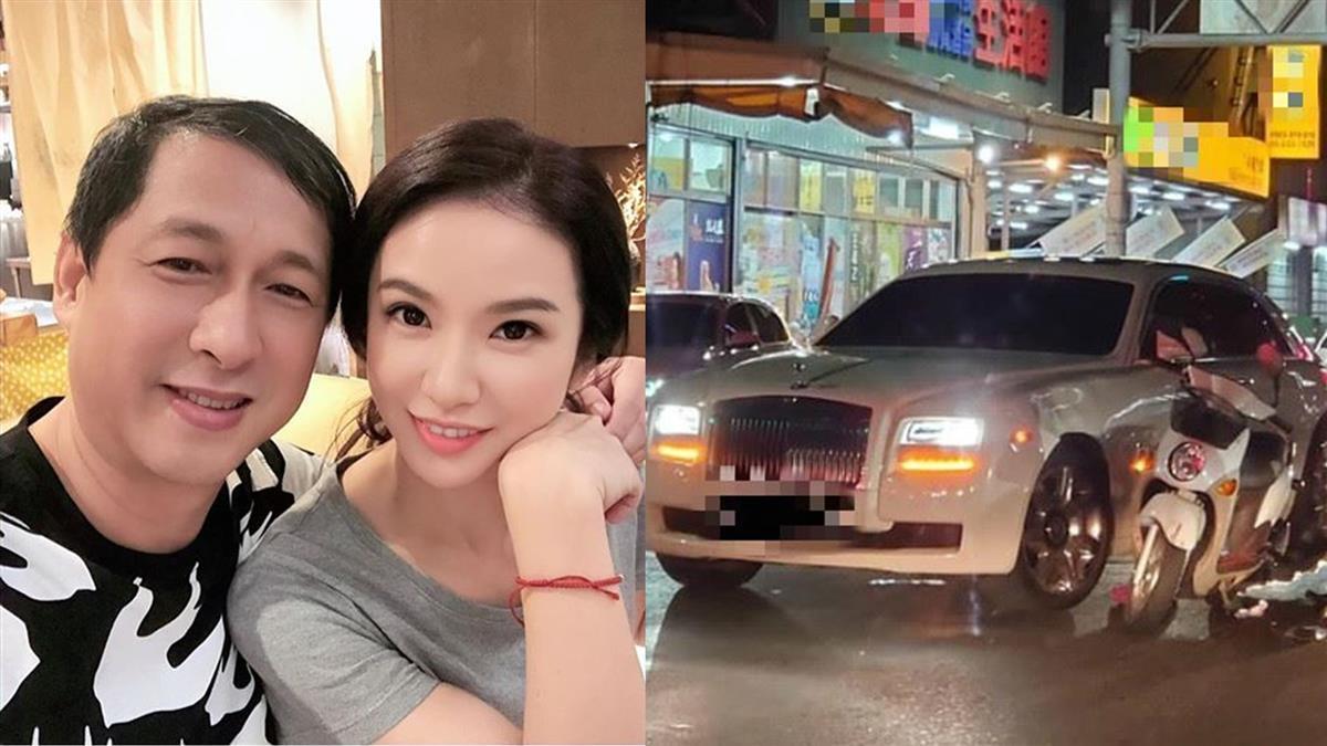 哭了!陳小菁尪3千萬勞斯萊斯被撞 曝免賠真正原因