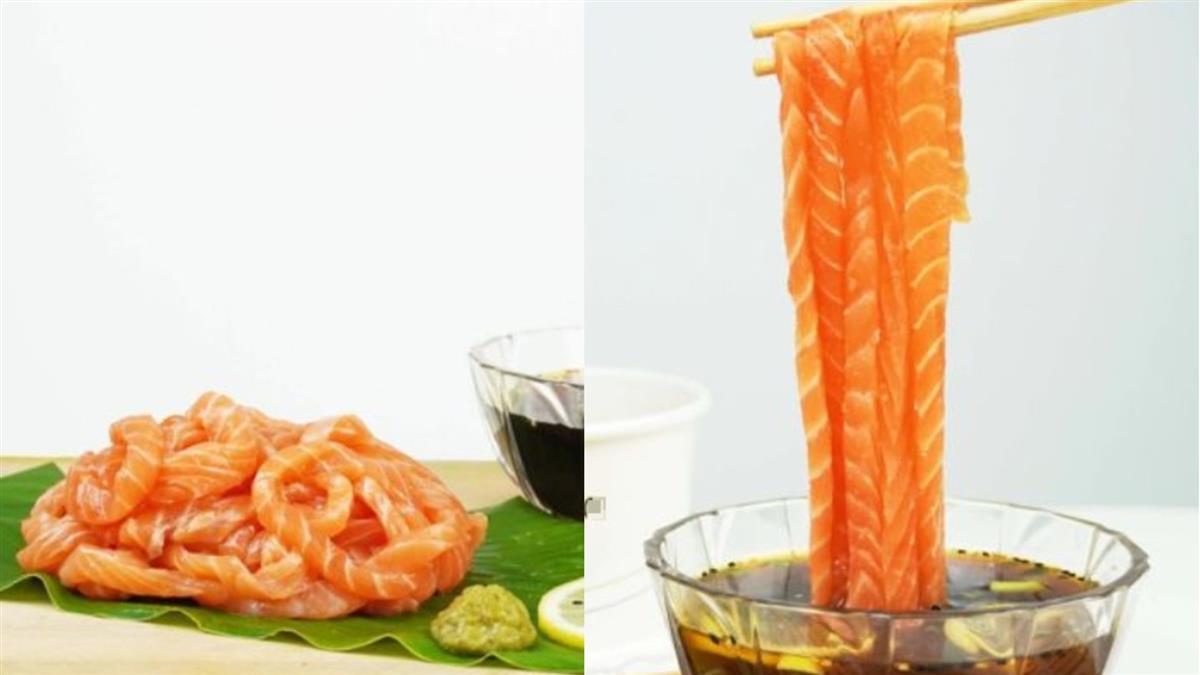 太夯!正妹吃播「鮭魚生魚片沾麵」 秒吸進嘴超滿足