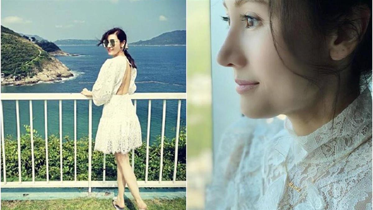 50歲仍宛如少女 李嘉欣穿白色洋裝好仙