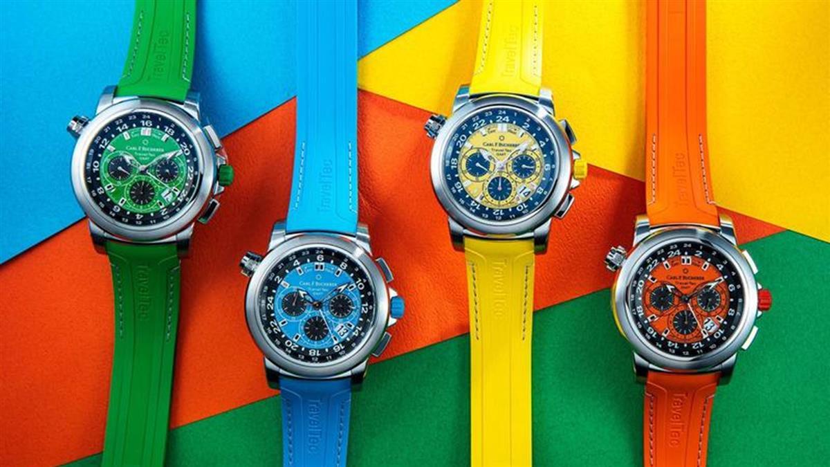 四色爭豔!寶齊萊全新Patravi TravelTec三地時間計時碼錶