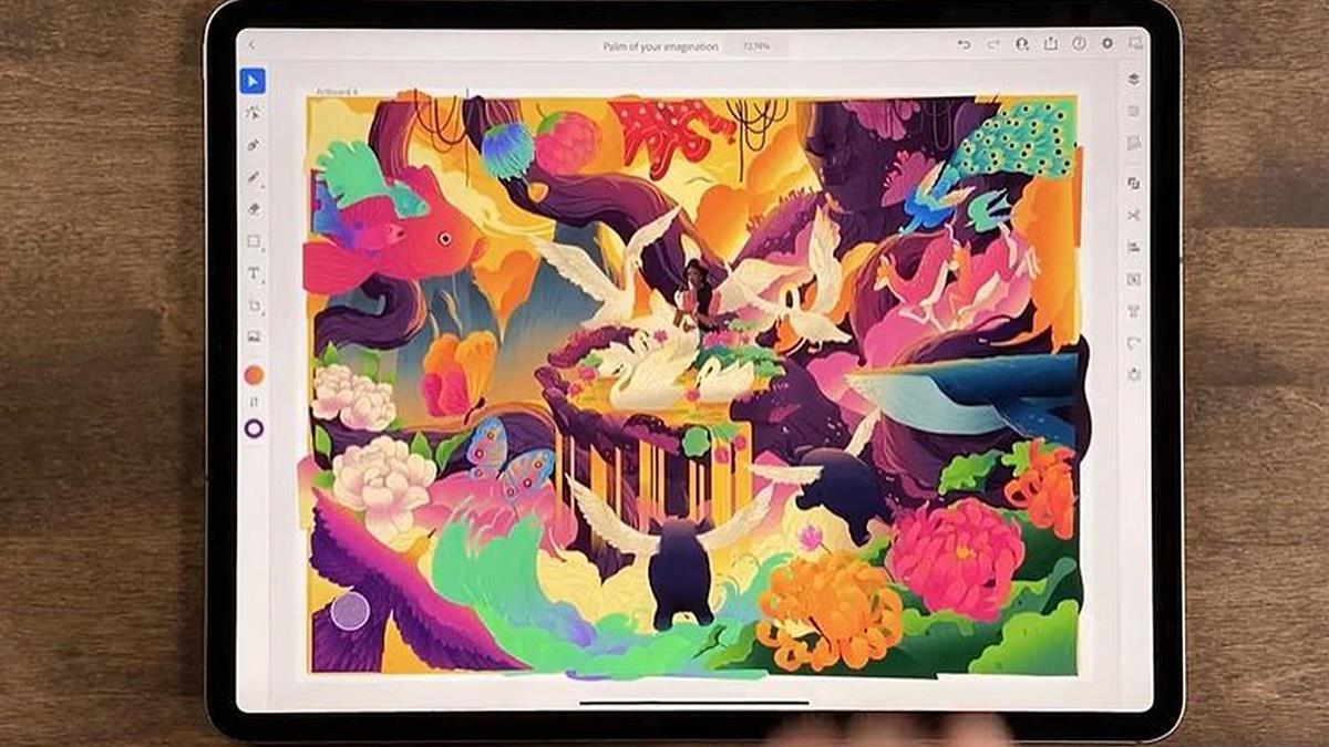 iPad 版 Illustrator 登場!支援包括 18,000 款字體,放射狀、網狀及重複鏡射等全新功能