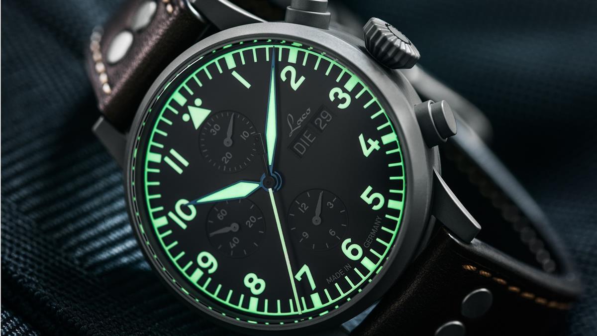 精湛可靠飛行錶 德國Laco三眼計時錶全球限量200支
