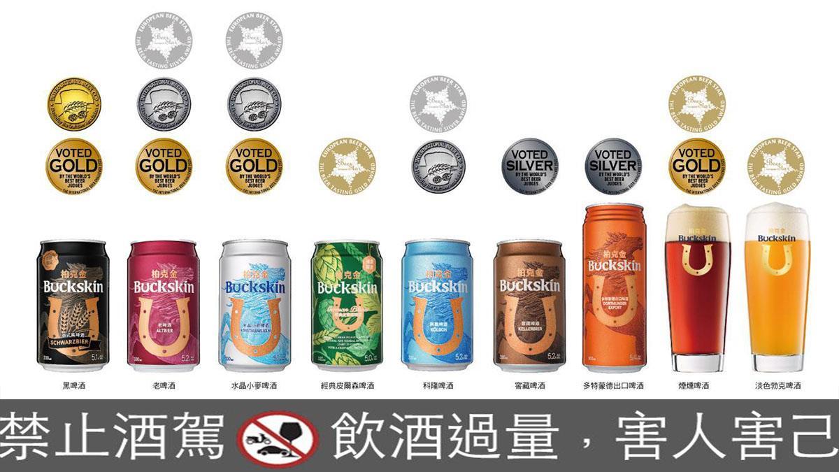 金車柏克金喜獲啤酒指標競賽肯定!抱回 8 金 8 銀與「亞洲年度最佳酒廠」大獎
