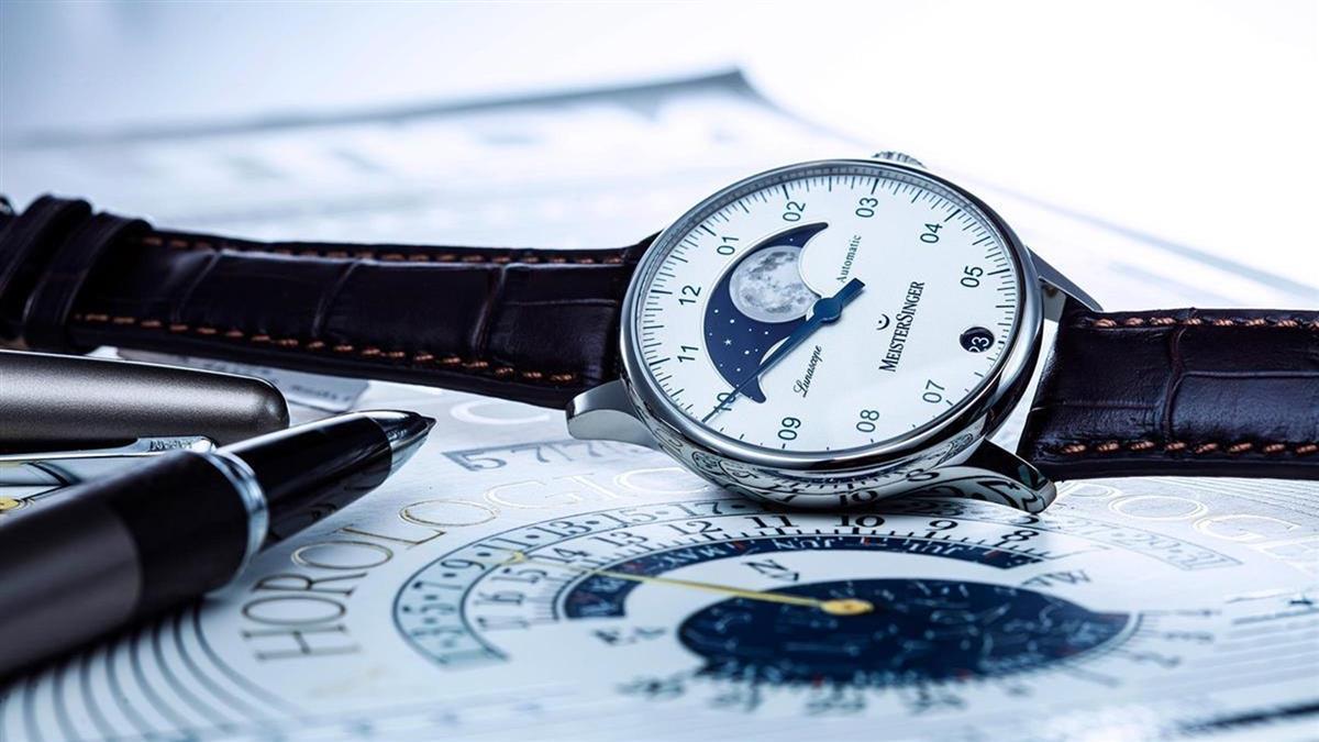 一枝獨秀的迷人魅力!MeisterSinger單指針月相腕錶