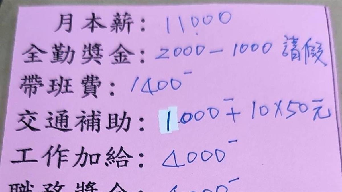 本薪只有11K!安親班老師貼出「超扯薪資單」 網罵翻:沒被檢舉過